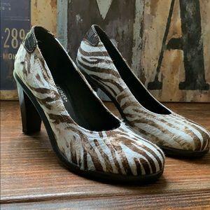 Donald J. Pliner Ushi Horsehair Blue Zebra Heels